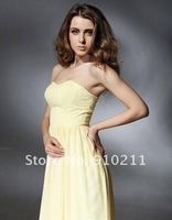 Best Seller Jennifer Love Hewitt A-line Sweetheart Sweep/ Brush Train Chiffon Celebrity Dresses Evening Dresses
