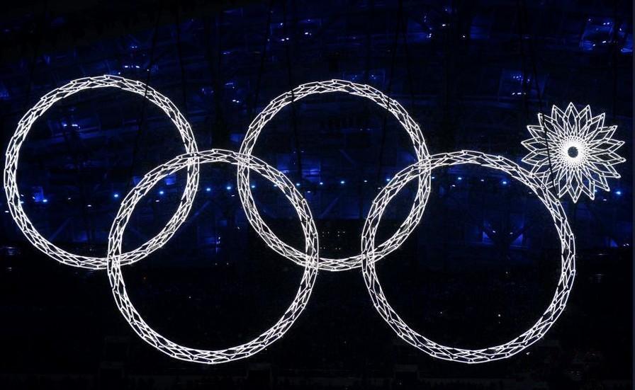 р России Сочи зимние Олимпийские 5 колец летних мужчин хлопка печать t рубашки женщин вершины тройники