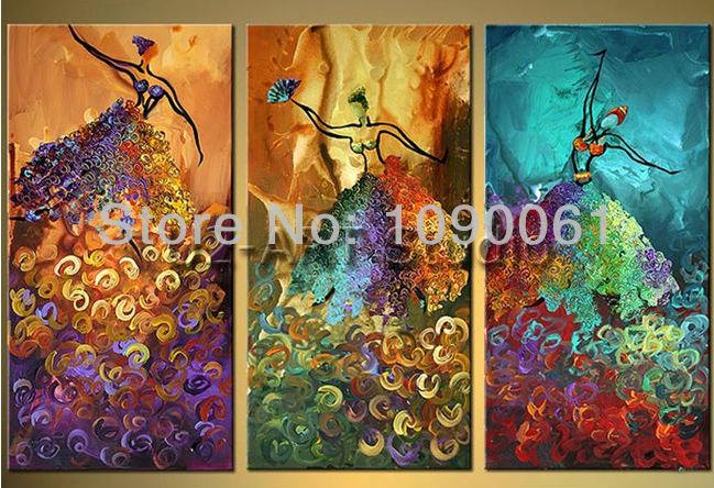 Aliexpress.com: Comprar Pintado a mano abstracto moderno figuras ...