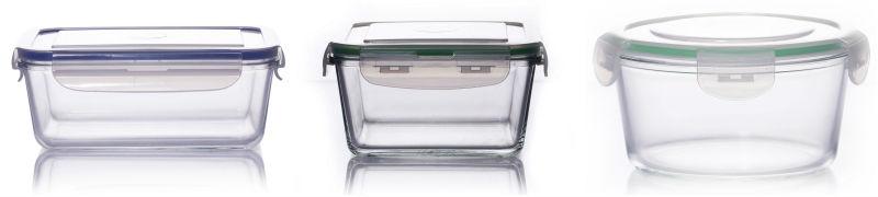 자 레인지와 고정 안전 밀폐 유리 상자