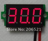 Вольтметр Mini Lithium Battery Digital Voltmeter DC 3.2-30V Blue/Red/Green 5pcs/lot ship airmail