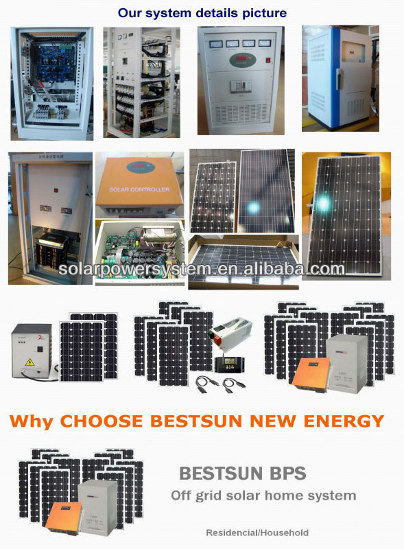 BPS 1000W 5000W 6000W high efficiency 3000w 3 price per watt solar panels
