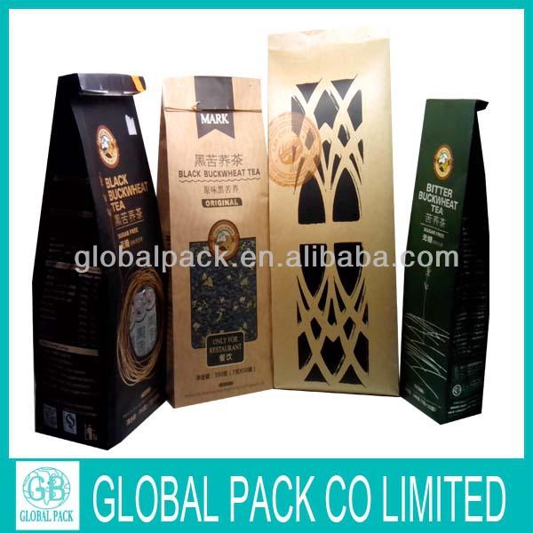 Laminated aluminum foil zipper tea bag packaging/custom printed tea bag packaging