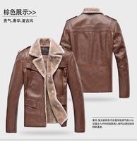 Мужские изделия из шерсти 2013 new men's long section of faux lamb's wool fur pu leather men's leather jacket