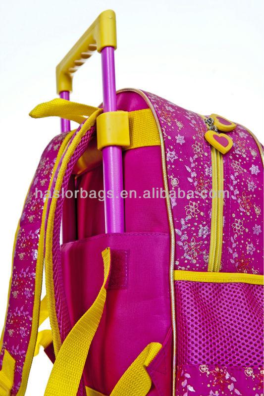 Haute qualité petites filles chariot sac à dos