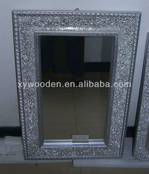 Ronde crackle miroir mural main verre bris mosa que for Miroir des modes 427
