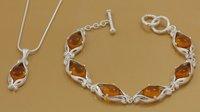 ZS177 - Fashion Jewelry 925 Sterling silver tophus bracelet+necklace Fine Jewelry Set