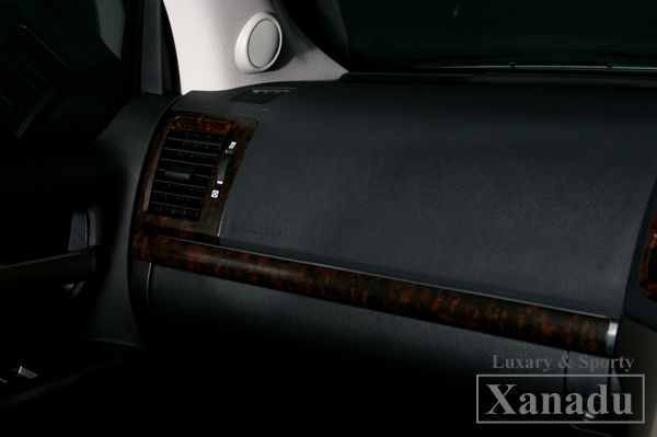 Car Air Freshener Wood Interior accessory wooden parts:Wood trim 5 parts kit forLandCruiser 200 /Lexus LX570