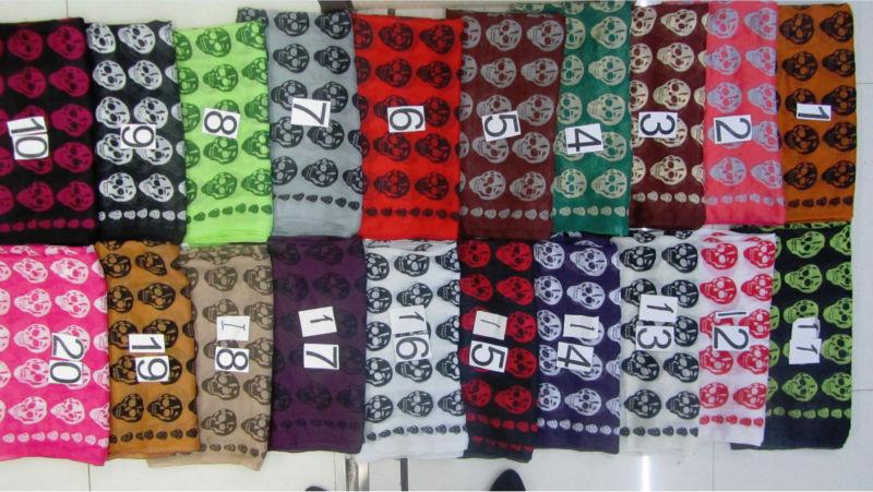2014 winter voile skull scarf