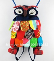 Рюкзак Preschool Kids Owl Ethnic Bag Colorful Stitch Boy's/girl's Backpack Children Purse Gift for baby B007