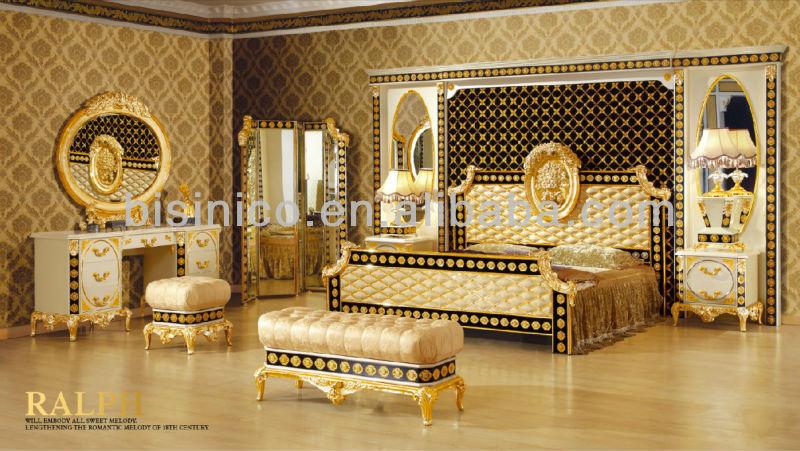 classical sofa set living room furniture 24k gold plated bf02 b6021