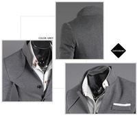 NEW MEN'S CHIC DENIM BLAZER JACKET COAT CASUAL WITH POCKETS Men's one button suit jacket 8925
