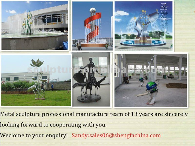 modern stainless steel fountain sculpture/statue for outdoor decoration