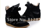 Женские кеды Drop Shipping /Isabel Marant Genuine Leather Size Red+Black+Blue Boots Height Increasing Sneakers Shoes