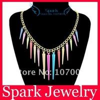 Колье-ошейник Colorful Spike Rivet Necklace Punk Necklace Bullet Necklace