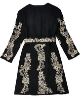 Женская куртка Hot! Baroque Pattern Coat With Tie Waist