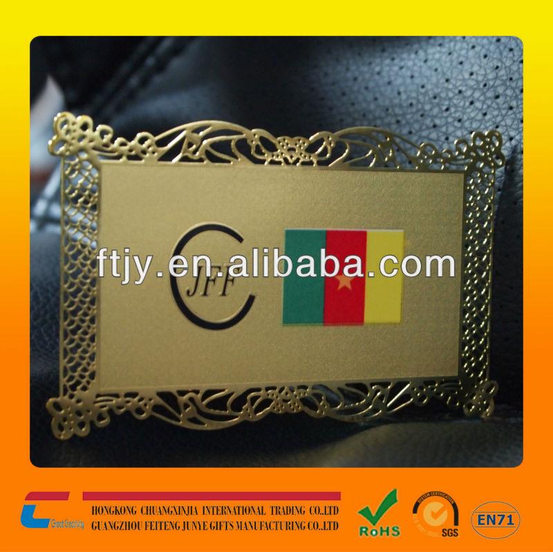 Rose Gold Metal Rose Gold Metal Business Cards