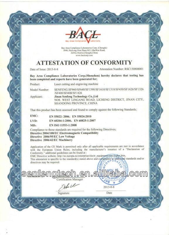 CO2 bamboo laser engraving machine price supplier SF6040-E
