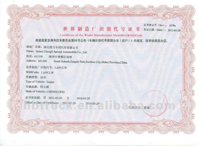 Certificate of the world manufacturer .jpg