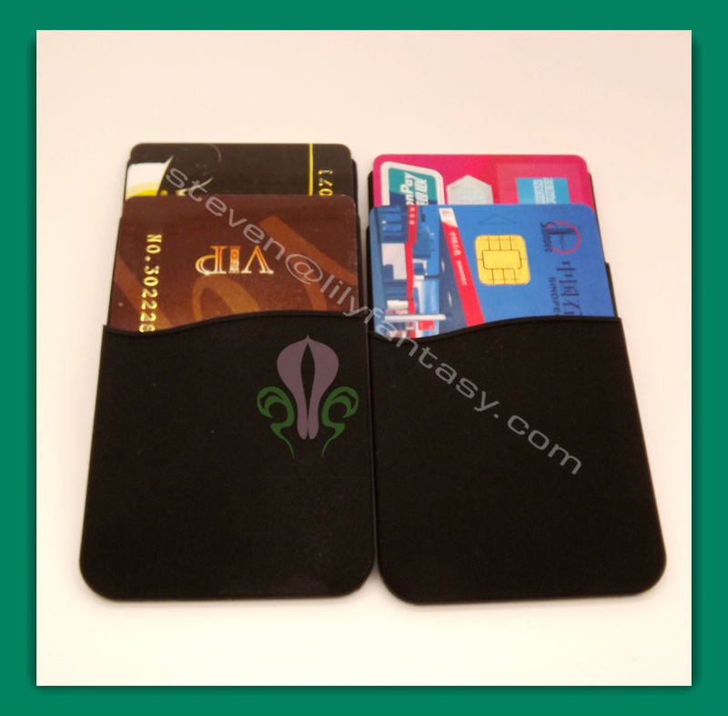 silicone smart wallet for Iphone card holder