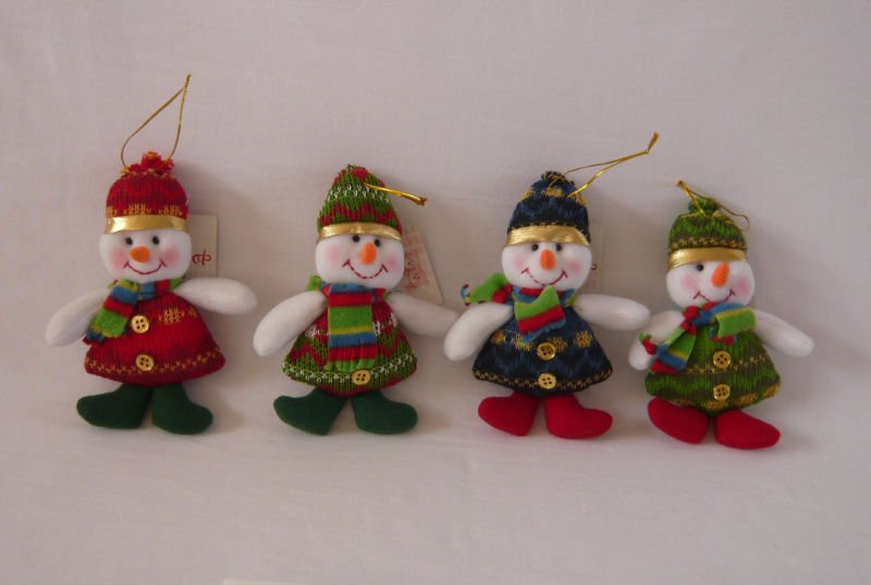 Mu ecos de nieve en tela polar imagui - Adornos navidenos de tela ...