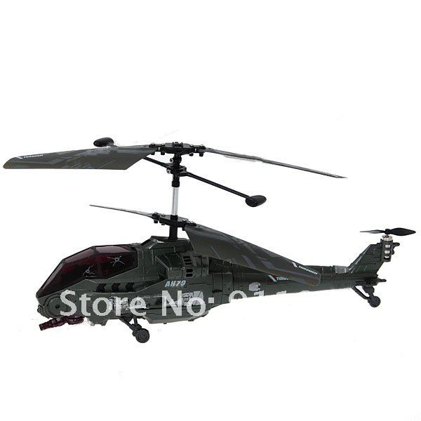 Excellent 3-Channel Electronic Battle Helicopter with Remote Control (W66153) - Sap Green
