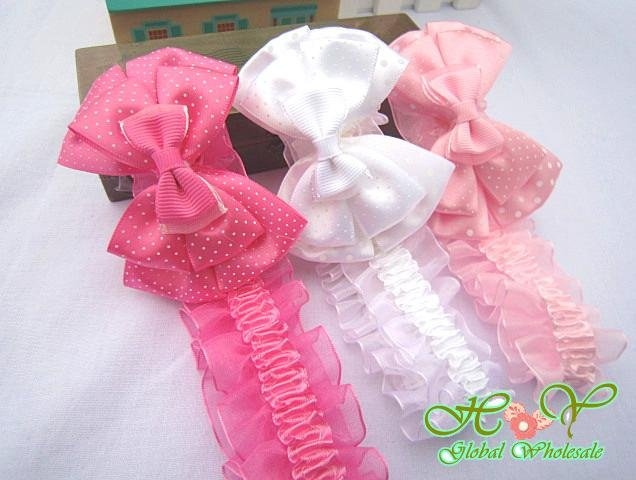 Freeshipping!NEW bowknot elastic  headbands/baby/kids/infant flower headband/Hair ribbon band/Hair Accessories/Fashion/Wholesale
