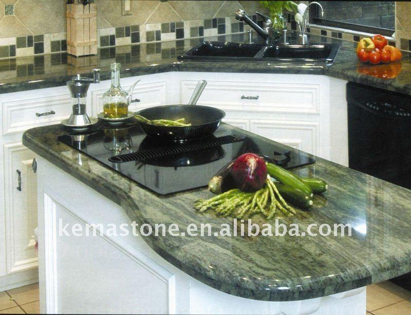 Tropical granit vert granite id de produit 489518166 for Plan de travail vert anis