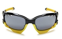 Мужские солнцезащитные очки Men's Sunglasses Yellow Black Frame Frie Iridium Vented Lens-2 Extra Pairs Exchangeable Lens Ride Outdoor Mens Sports Glasses