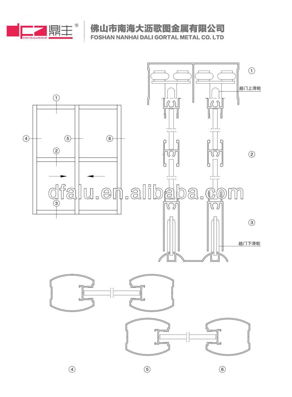 Cabinet Sliding Door Detail Drawing Wardrobe Sliding Door