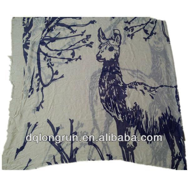 Giraffe printed long scarf 2013