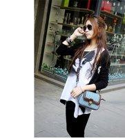Free Shipping,Women's Handbag Vintage Casual Small Bag Camera Stripe Canvas  One Shoulder Crossbody Bag