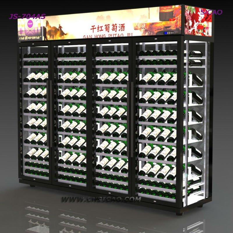 1000L four wall glass doors wine display showcase for liquor , beer display cabinet showcase refrigerator fridge , wine cooler