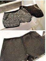 Женские шорты transport 895 # the Korean Korean goods sparkling sequins zipper decoration BLINGBLING knitted wool shorts