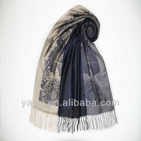 190G Fashion Wedding Wear Gift Tassel Ladies Flower Jamaver Jacquard Shawls Wholesale