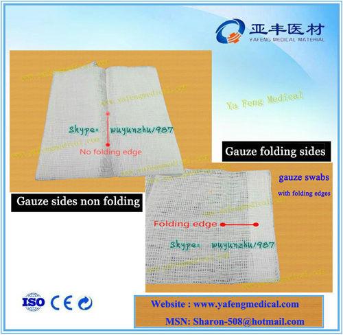10x10 Super absorbent cotton medical gauze dressing