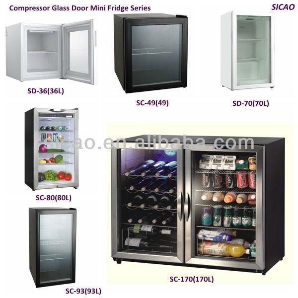 80l glazen deur mini vriezer met 1 6 39 c koelkasten product id 909833860 - Decoratie voor wijnkelder ...
