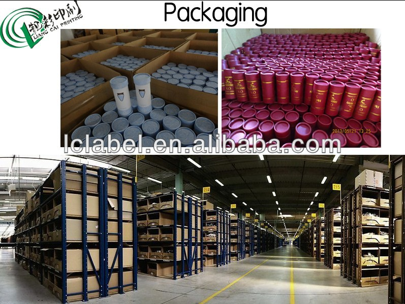 Promotional paper tube box cylindrical box cardboard tube with PVC window