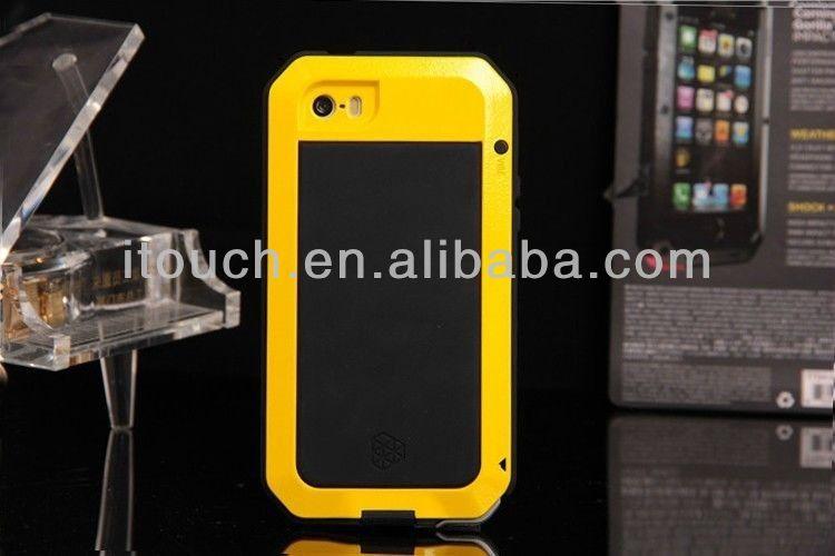 Factory Price Waterproof Shockproof Aluminum Case For iPhone 5S