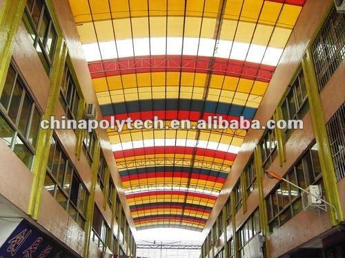 Ligne en plastique d'extrusion de tuiles de toiture de PC pour 2 - feuille de toiture de couche