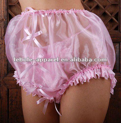 Pamela glass-silk Sissy Ladies Transparent Panties