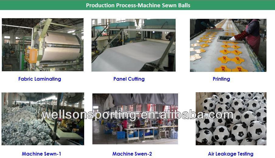 26 panels machine stitched Brasil 2014 TPU soccer ball