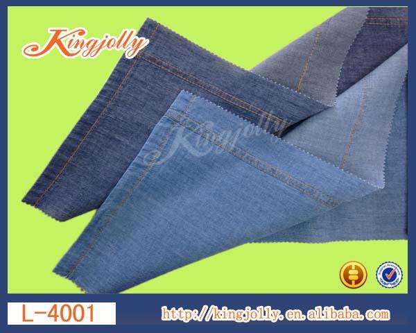60*60 light weight 2.4oz 100%denim fabric china mannufacturer
