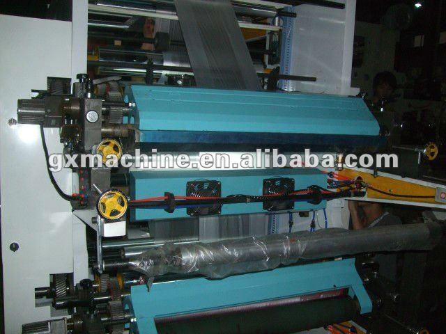 Plastic film flexo printing machine