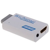 F03165 Wii To HDMI 1080P 720P Wii2HDMI 3.5mm Audio Converter Audio Box Output Upscaling Adapter For NTSC PAL +Freeship