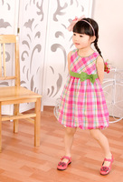 Платье для девочек hot new baby girl's sleeveless dress for summer, children dress 0523