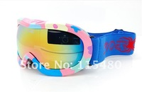 Double-deck Anti-Fogging Electroplate Ski/Bicycle/Autobicycle Goggles For Wholesale Free Shipping