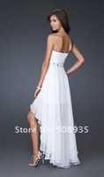 Gorgeous Front Short Back Long Chiffon A-line Sweetheart Neckline Custom Made Cocktail Dress/Homecoming Dress