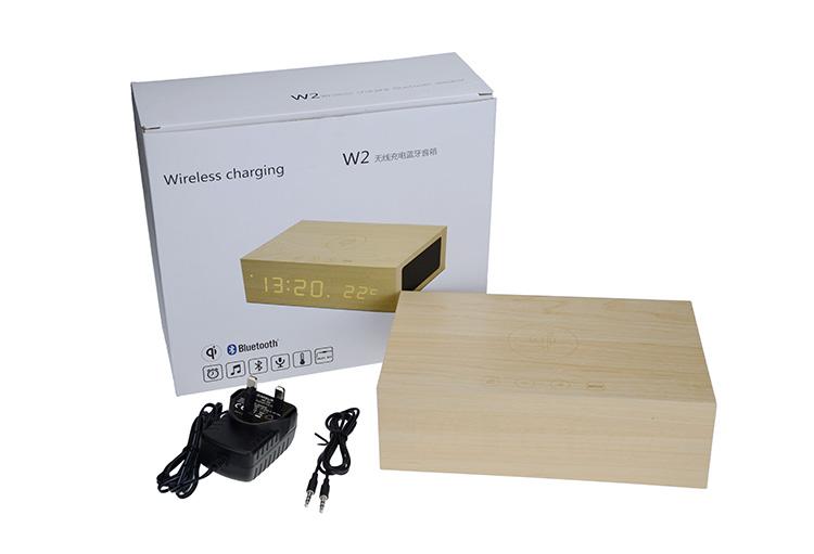 Haute qualité sans fil home cinéma système LED en bois bluetooth haut-parleur avec mains libres mic led affichage