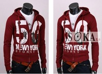 Мужская толстовка Latest Style Men's Cotton Blends The Statue Of Liberty Printing Hoody, Popular Men's Coat -SK305